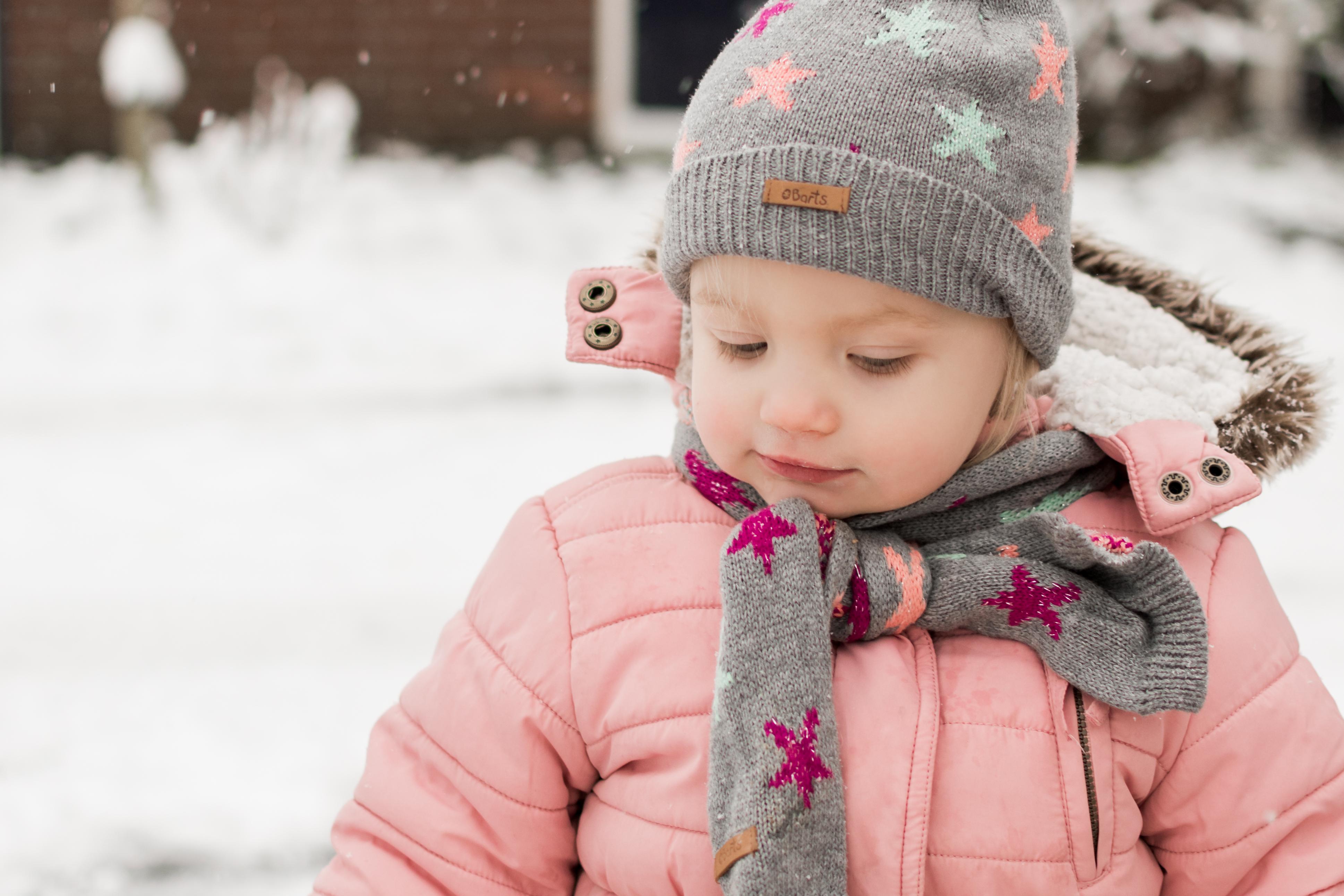 Nora in de sneeuw